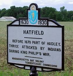 Hatfield History Sign